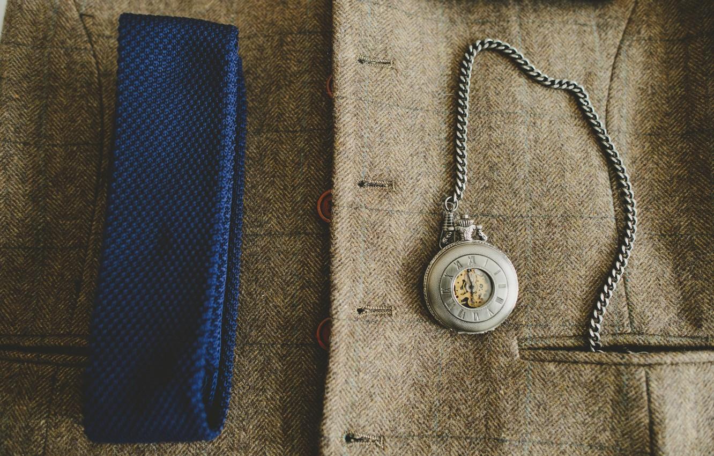Photo wallpaper watch, coat, pocket
