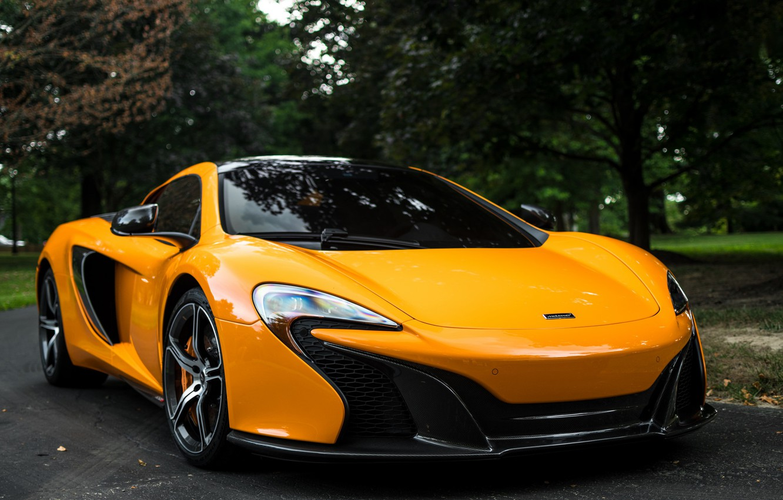 Photo wallpaper McLaren, Spyder, Yellow, 650S