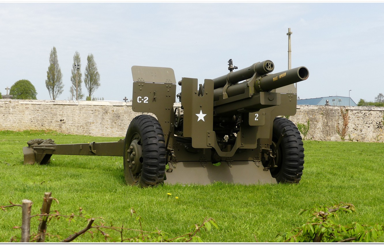Photo wallpaper gun, normandy, ww2, artillery, overlord