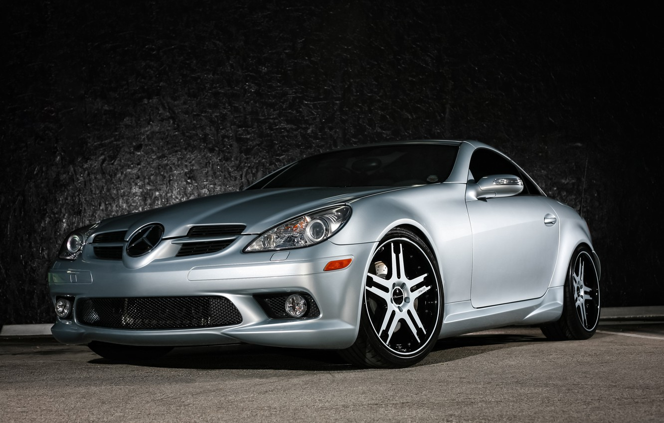 Photo wallpaper Mercedes, wheels, color, SLK, Giovanna, lowered, matched