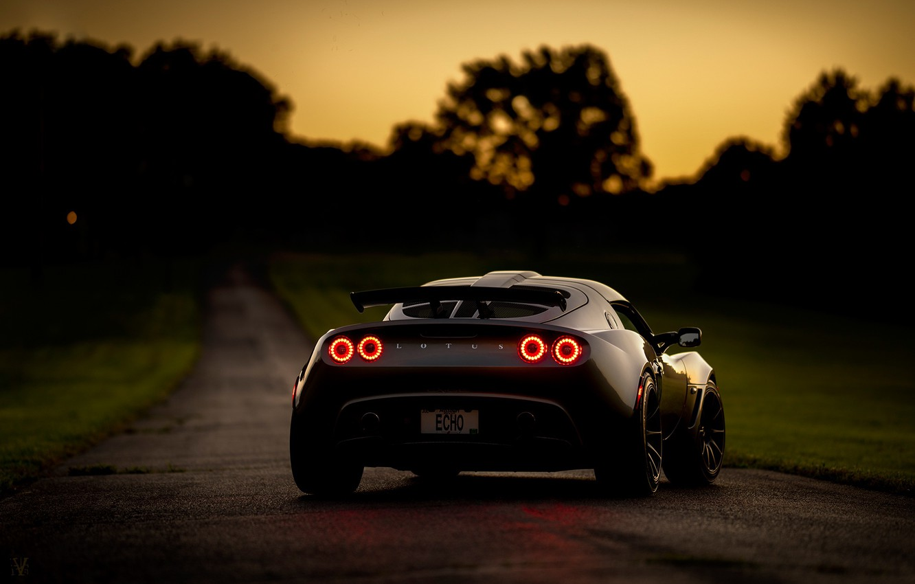 Photo wallpaper road, night, Lotus, sports car, Requires, Lotus Exige