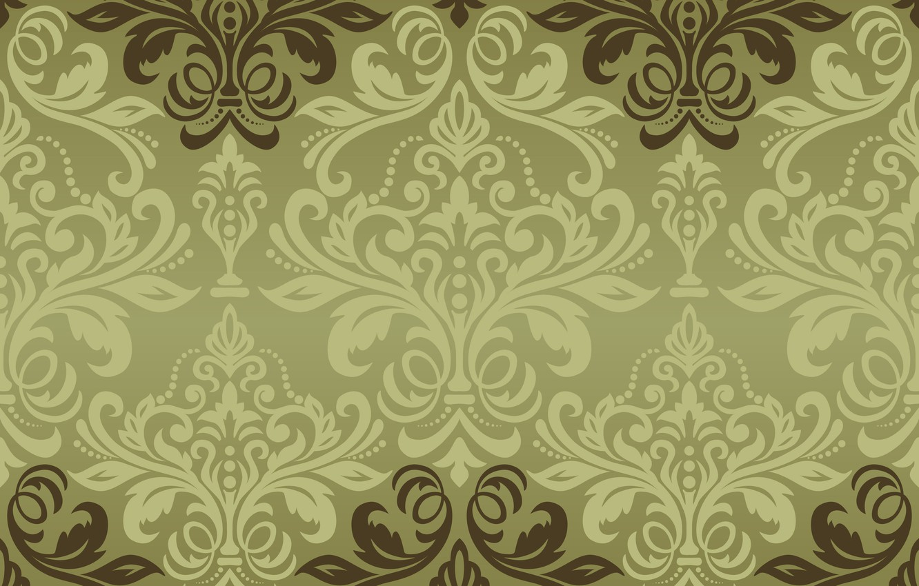 Photo wallpaper vector, texture, ornament, background, pattern, classic, grin, seamless, damask