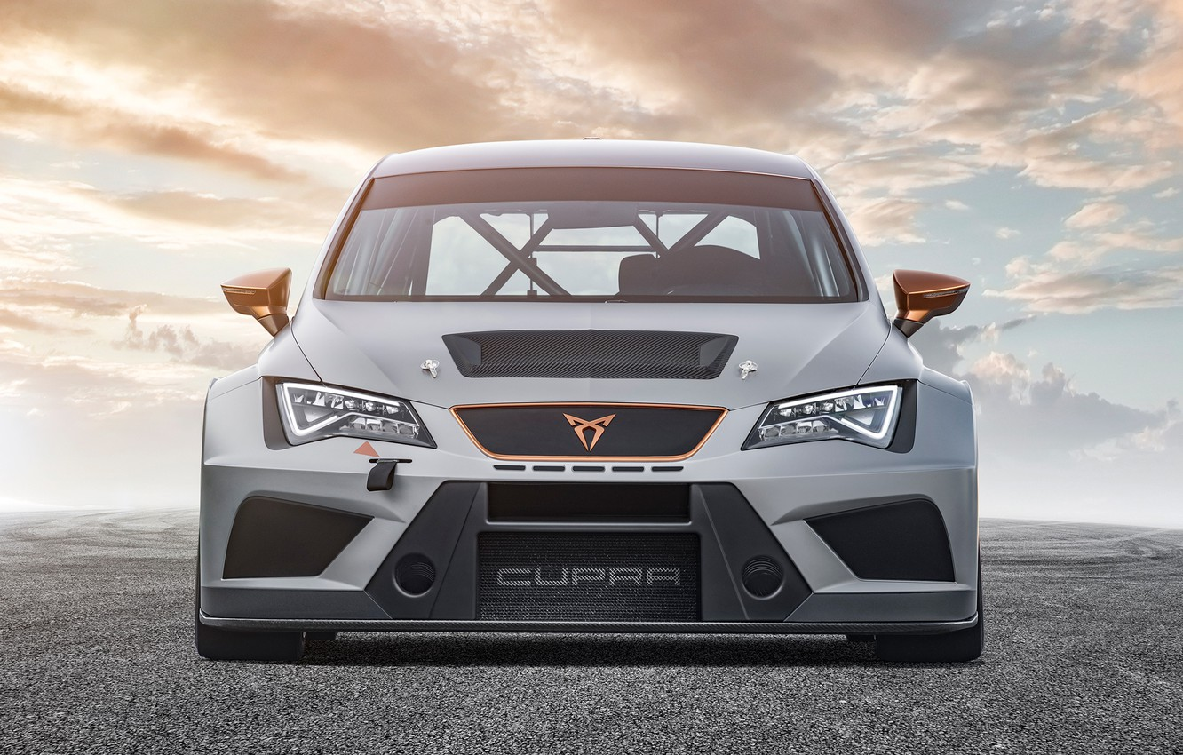 Photo wallpaper front view, Seat, Cupra, TCR, 2019