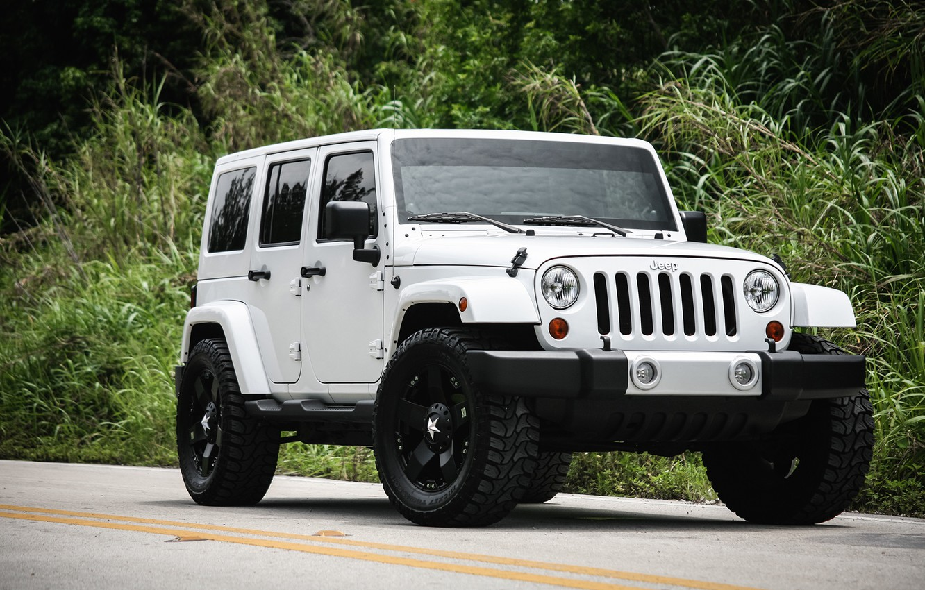 Photo wallpaper Sahara, with, Wrangler, Jeep, Unlimited, kit, suspension, leveling