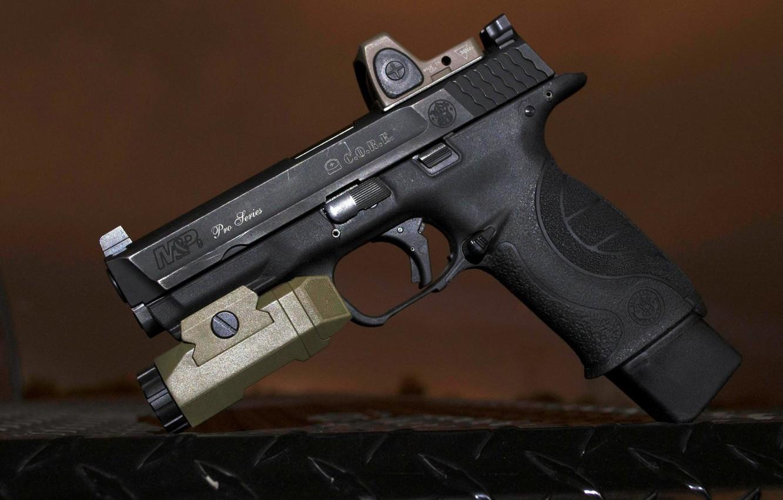 Photo wallpaper gun, weapons, flashlight, gun, pistol, Smith Wesson, Smith and Wesson, smith & wesson, smith wesson, …