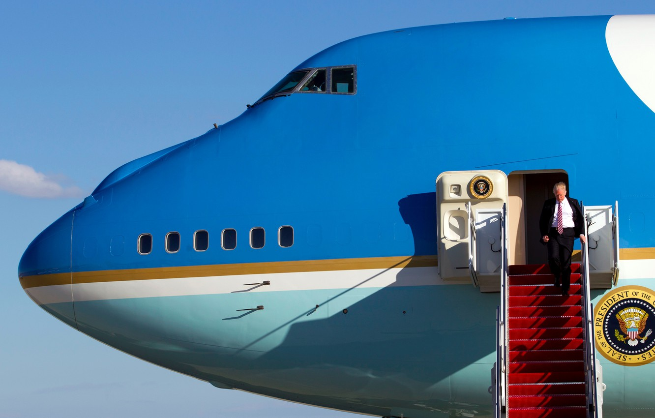 Wallpaper Boeing 747 Air Force One Air Force One Donald John