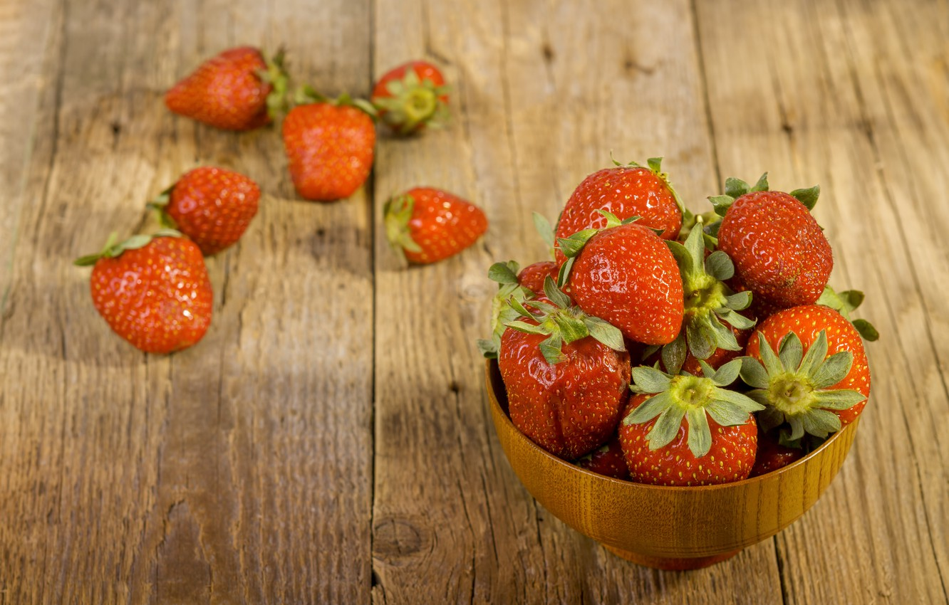 Photo wallpaper strawberry, berry, ripe, delicious, juicy