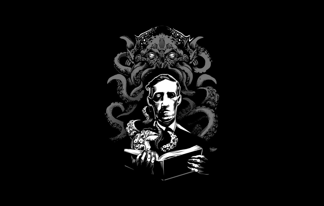 Photo wallpaper Cthulhu, horror, Cthulhu, Howard Phillips Lovecraft, Necronomicon, Lovecraft, Howard Phillips Lovecraft, Necronomicon