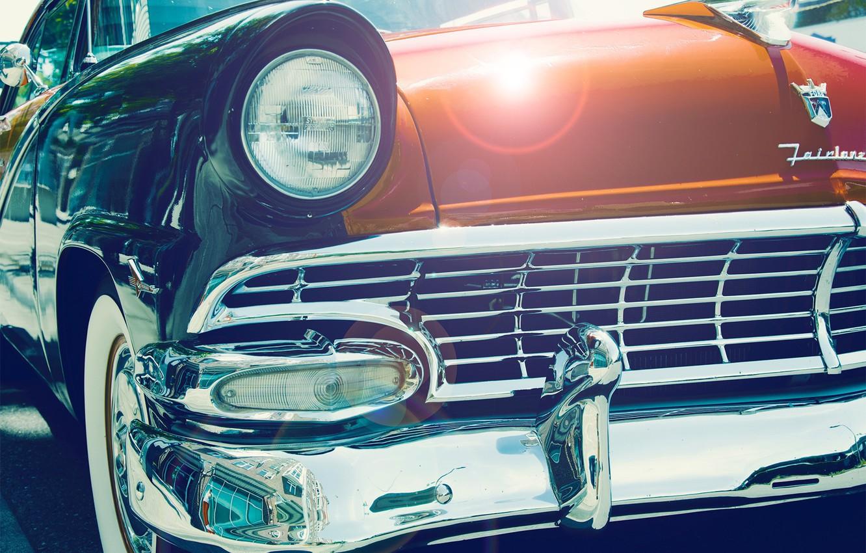 Photo wallpaper Auto, headlight, before, vintage, vintage car, Vintage car, Classic Cars