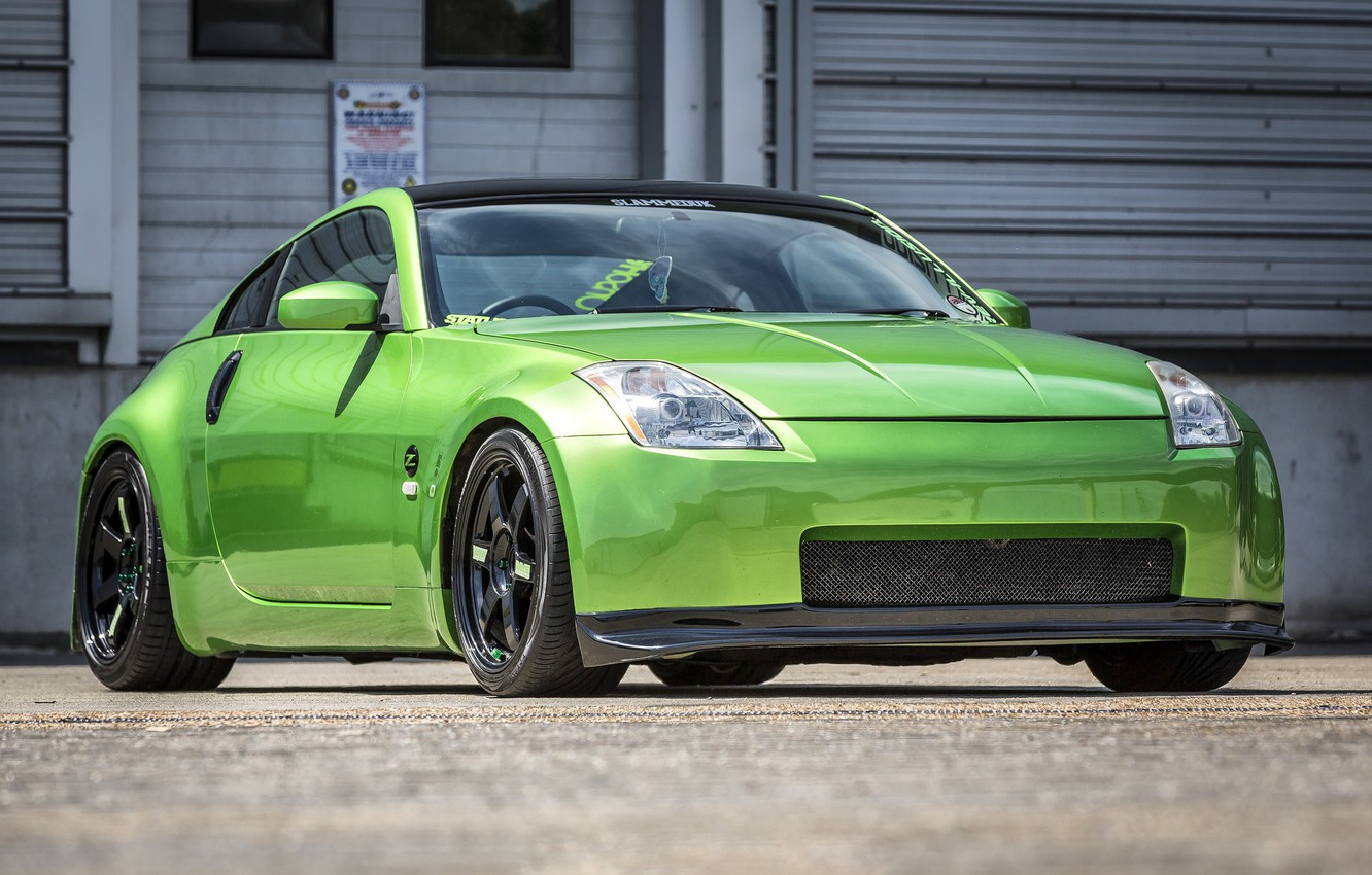 Photo wallpaper Nissan, Green, 350Z