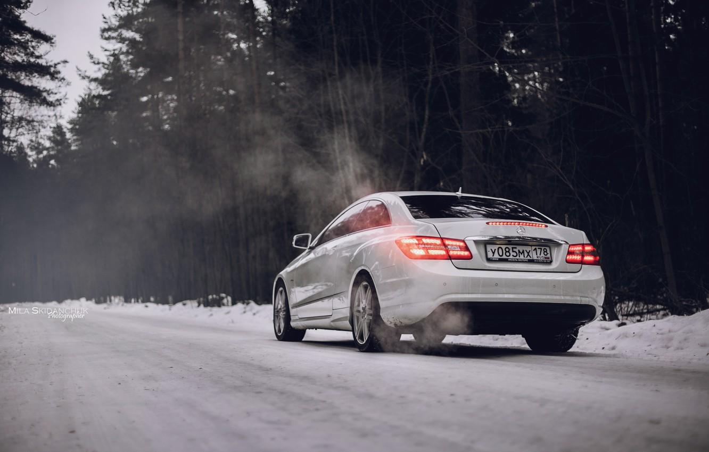 Photo wallpaper car, machine, auto, city, fog, race, car, mercedes, sports car, car, need for speed, Mercedes, …
