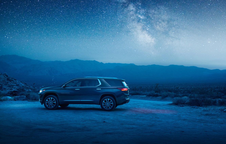 Photo wallpaper Chevrolet, SUV, 2018, starry sky, Traverse