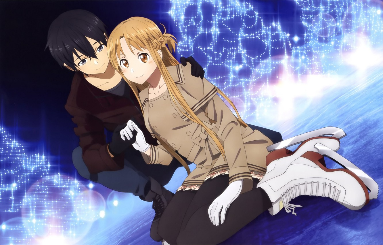 Wallpaper Anime Art Sword Art Online Asuna Kirito Images