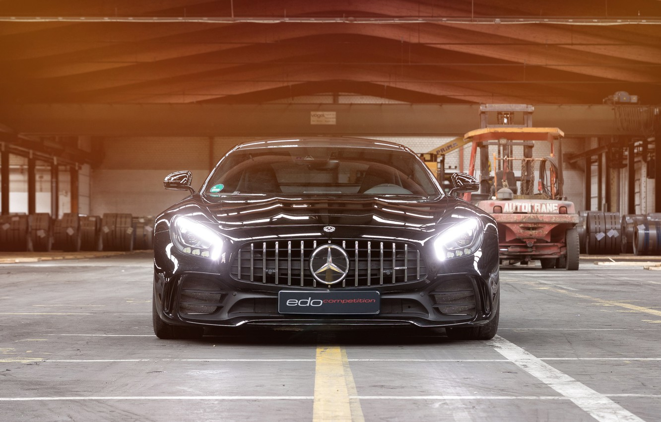 Photo wallpaper lights, Mercedes-Benz, front view, AMG, 2018, Edo Competition, GT R