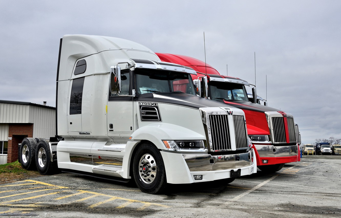 Photo wallpaper red, white, western star, 5700xe