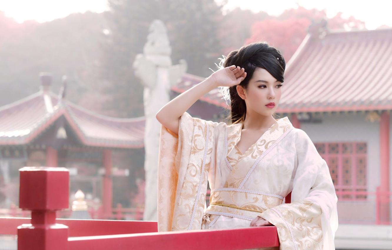 Photo wallpaper hair, brunette, costume, Asian