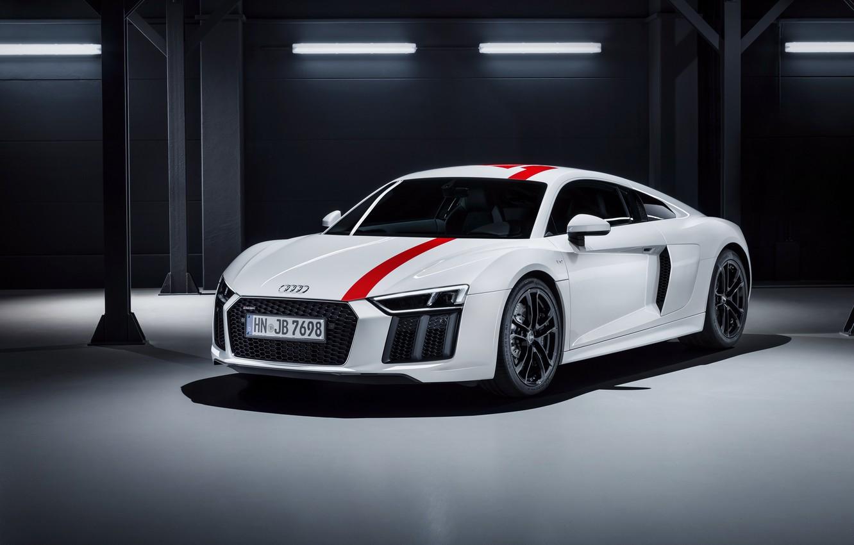 Photo wallpaper garage, supercar, Audi R8, 2018, V10, RWS
