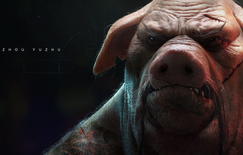 Wallpaper Game Tatoo Fang Head Pig Beyond Good Evil 2
