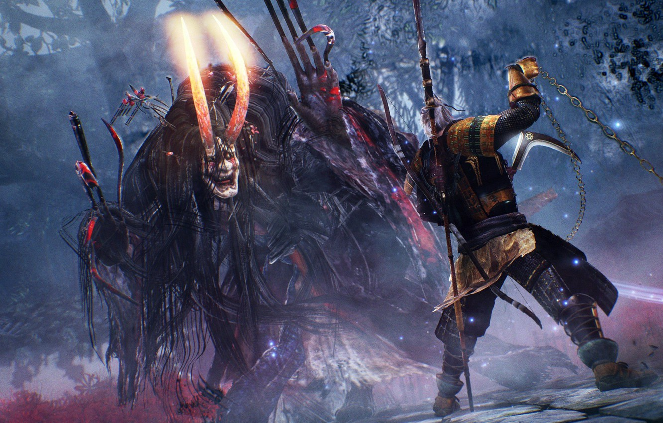Wallpaper Game Devil Weapon Blade Samurai Asian Bow Japanese Arrow Oriental Asiatic Chain Spear Oni Bushido Nioh Images For Desktop Section Igry Download