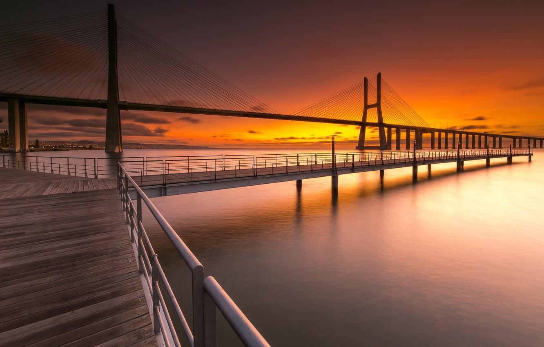 Wallpaper Portugal Lisbon Vasco Da Gama Bridge Images For