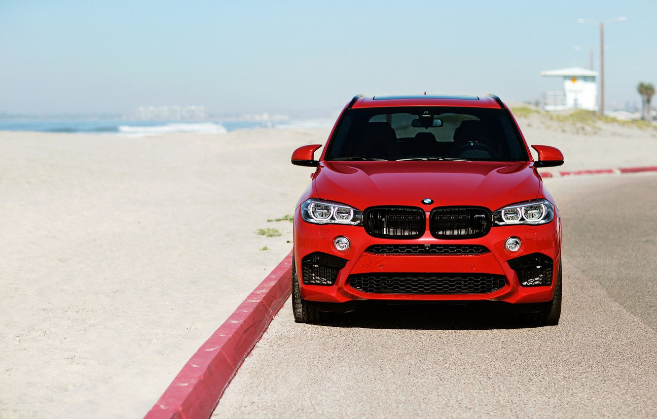 Photo wallpaper BMW, Front, RED, X5M, LED, F85