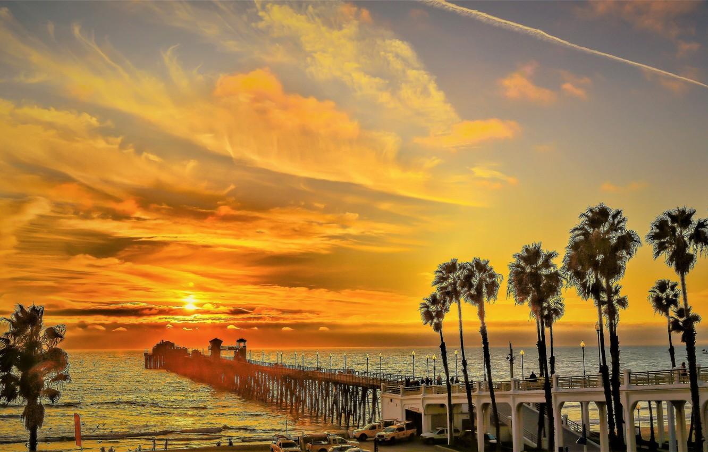 Photo wallpaper sea, the sky, tropics, dawn, morning