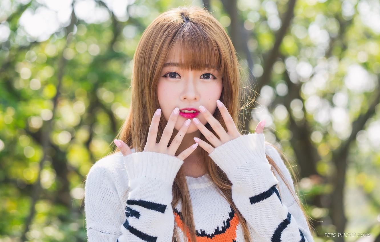 Cute asian girl wallpaper