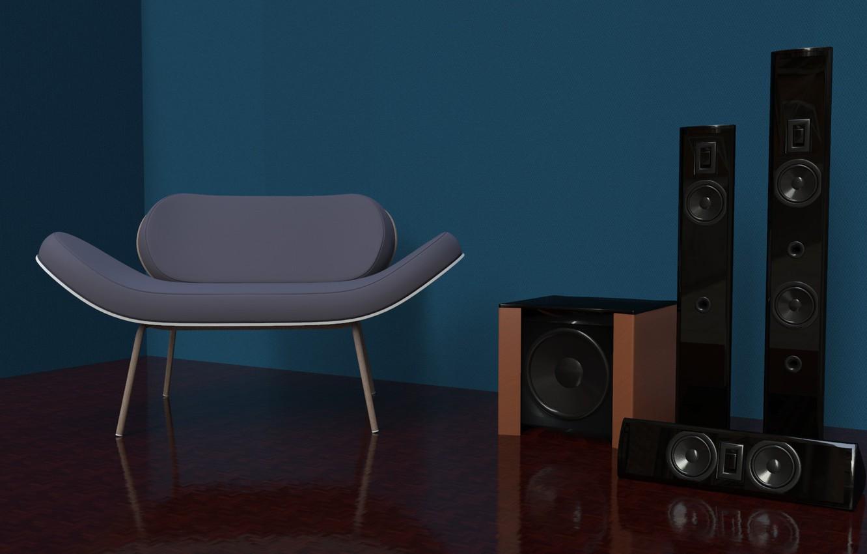 Wallpaper Wall Chair Floor Equipment Archviz Light Study