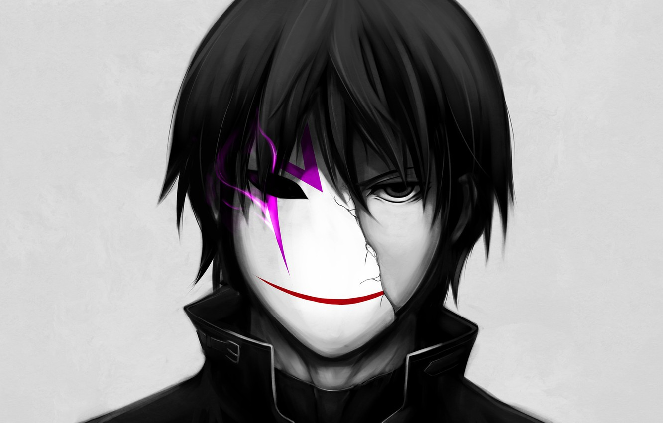 Photo wallpaper anime, mask, art, guy, Darker than Black, Darker than black, Hey, the contractor
