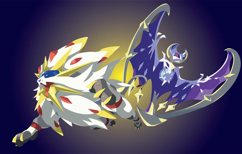 Wallpaper game, blue, lion, Pokemon