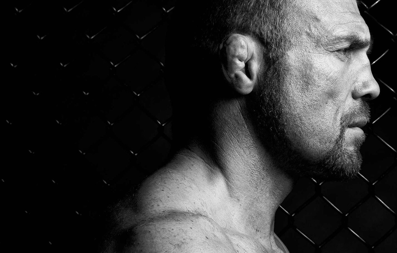 Photo wallpaper mesh, athlete, actor, background black, Randy Couture, Randy Couture, UFC, MMA