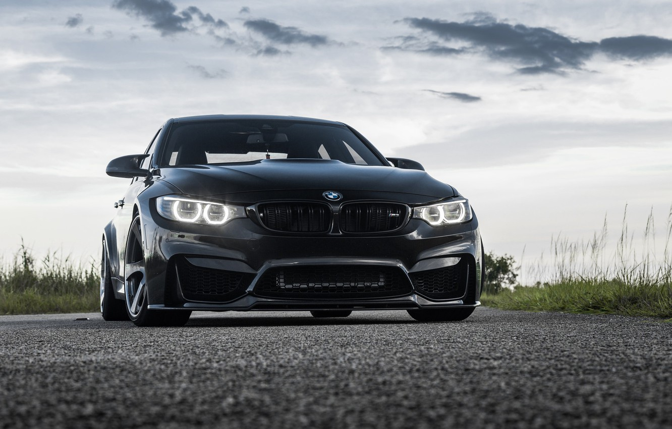 Photo wallpaper BMW, Black, F82, Eye, Sight