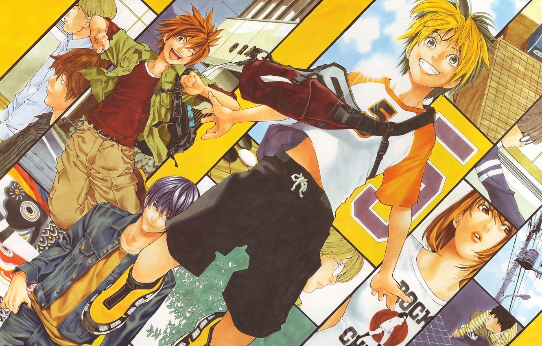 Photo wallpaper anime, characters, Hikaru no Go, Hikaru and Guo