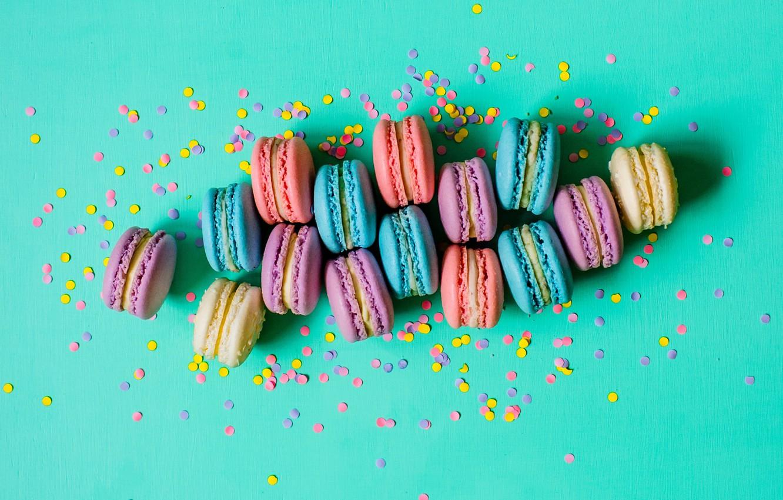 Photo wallpaper colorful, sweet, dessert, macaroon, macaron, macaroon
