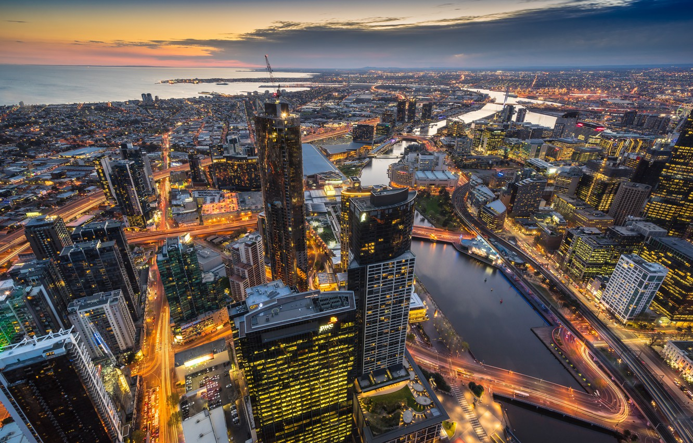 Photo wallpaper Melbourne, Australia, Eureka Tower
