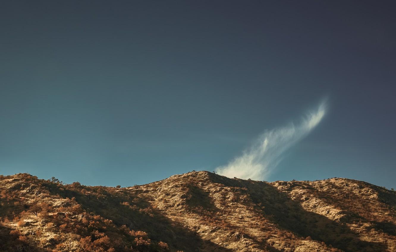 Photo wallpaper the sky, mountain, cloud