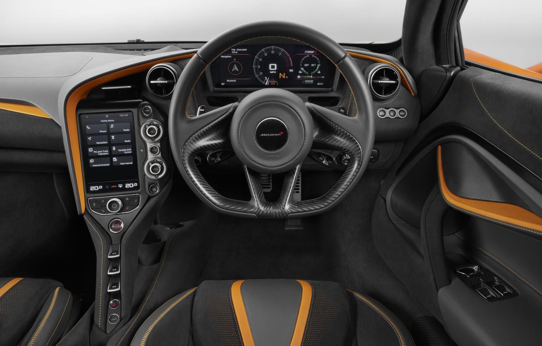 Photo wallpaper car, speed, interior, Mclaren, Sports Car, Mclaren 720S, Mclaren 720S Sports Car