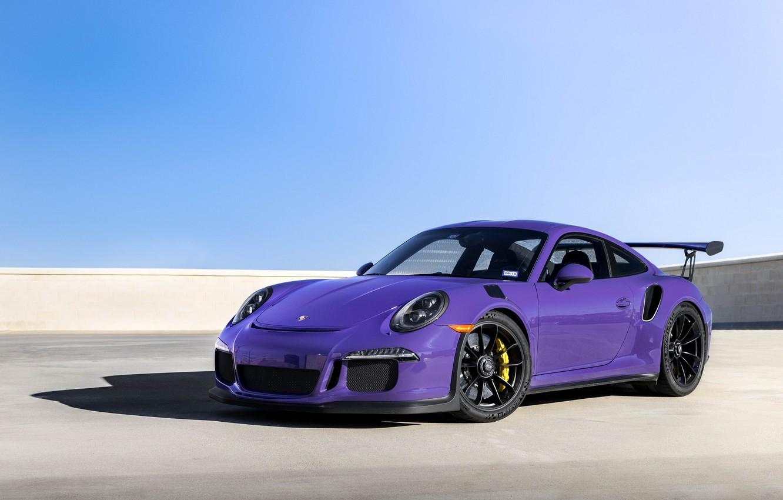 Photo wallpaper Porsche, Purple, Black, GT3RS, Wheels