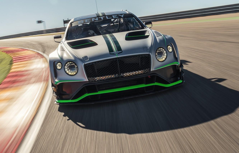 Photo wallpaper Bentley, Continental, racing car, front view, GT3, 2018