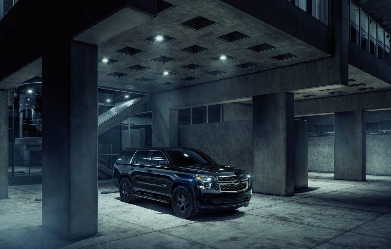 Photo wallpaper Chevrolet, 2018, Custom, Midnight, Tahoe