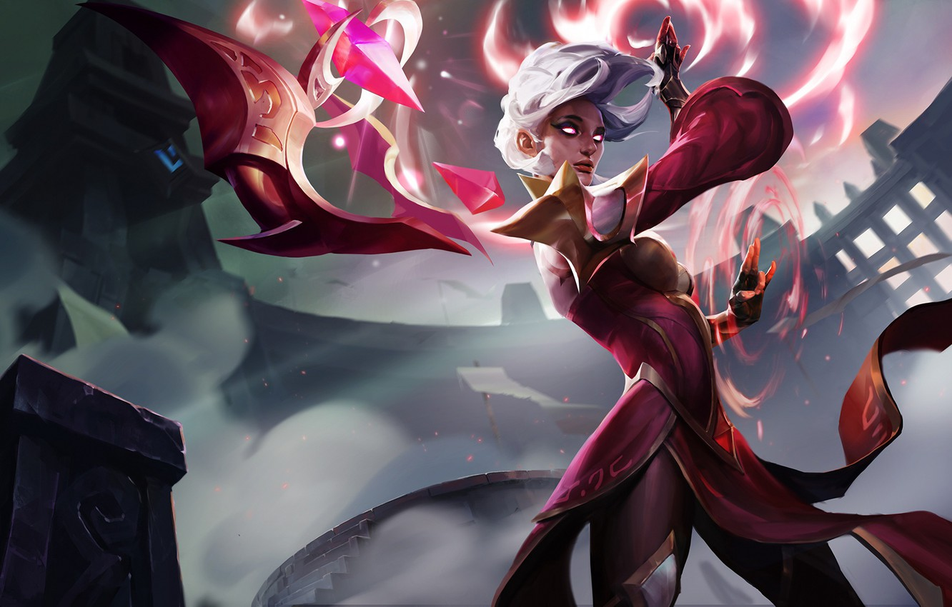 Photo wallpaper crystal, girl, MAG, challenger, lol, League of Legends, karma, Enlightened One
