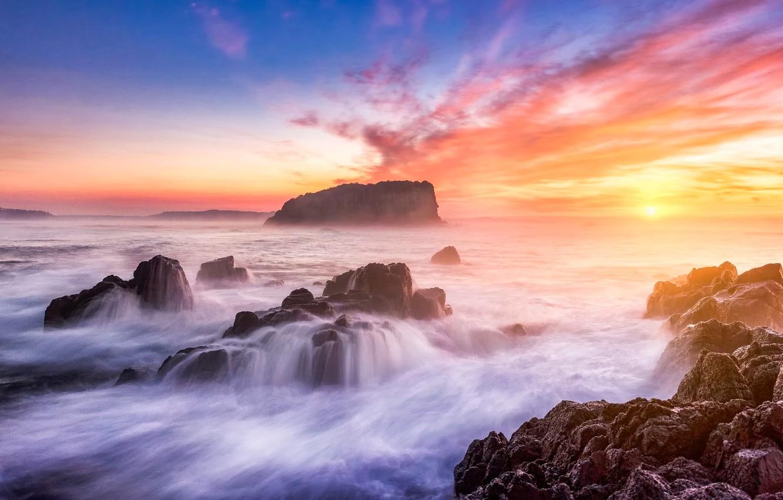 Photo wallpaper Beach, Landscapce, Australia, View, Sea, Minnamurra