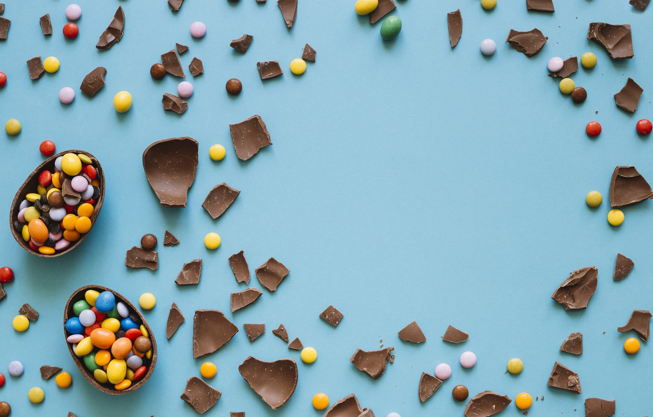 Photo wallpaper Chocolate, candy, sweets, chocolate egg