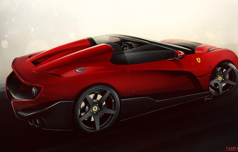 Photo wallpaper Auto, Machine, Ferrari, Art, Supercar, Rendering, The Ferrari F12, TRS, Yasid Design, Ferrari F12 TRS, …