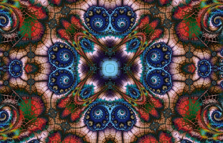 Photo wallpaper bright, pattern, fractal
