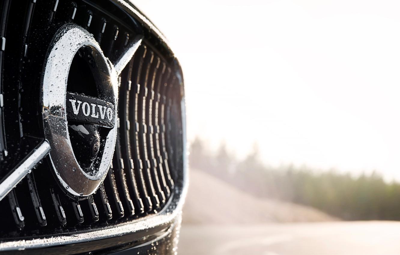 Photo wallpaper Volvo, Emblem, Car, Logo, Silver, Cross Country, 2017, V90