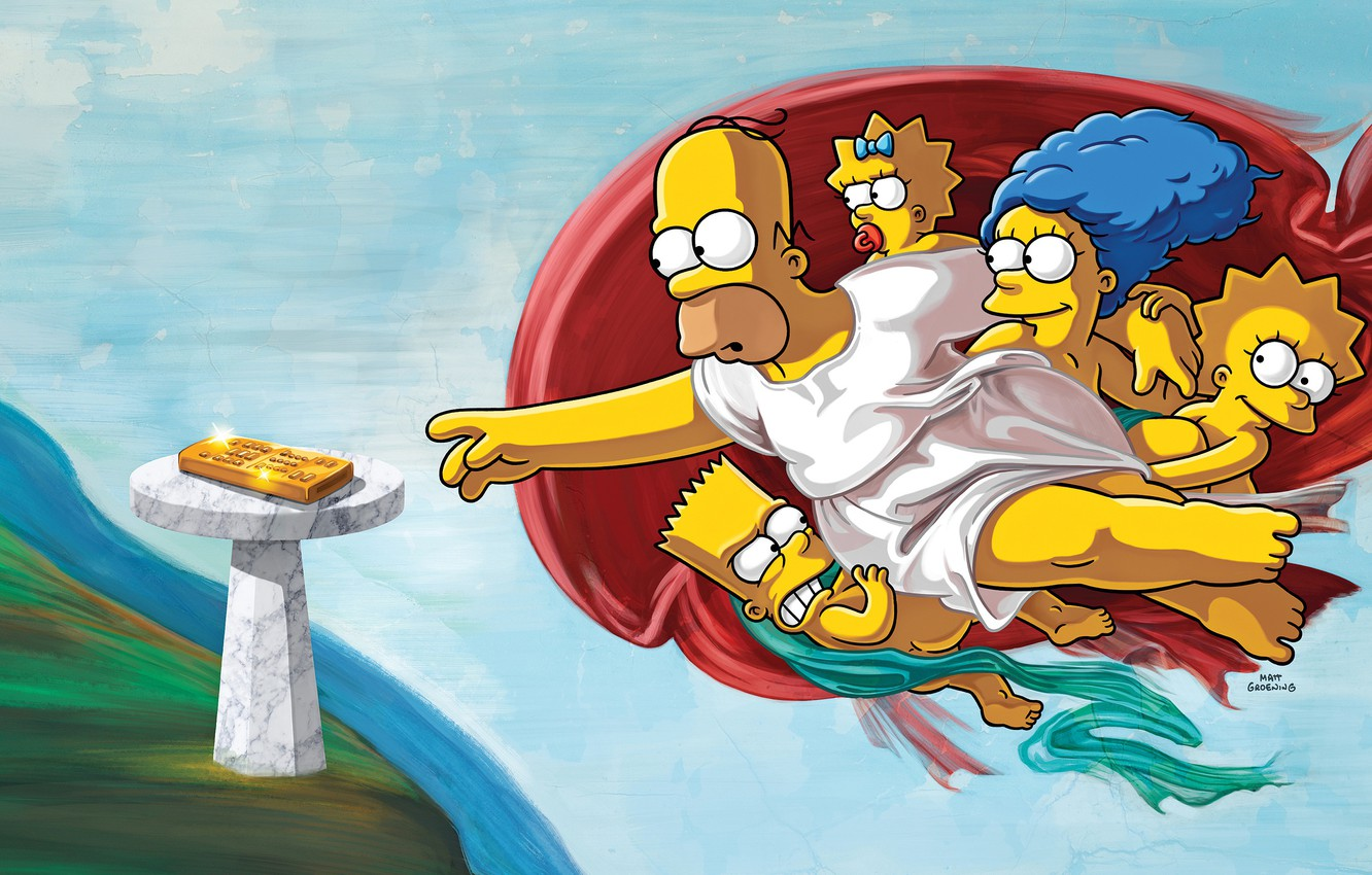 Wallpaper The Simpsons Figure Picture Homer Maggie