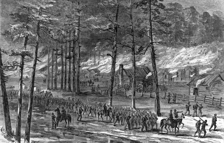 Photo wallpaper sherman's march through south carolina, American Civil War, Carolinas Campaign