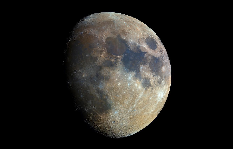Photo wallpaper planet, satellite, The moon