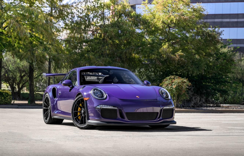 Photo wallpaper Porsche, Purple, GT3RS